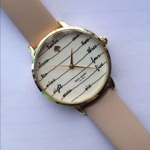 Kate Spade Nude Leather Watch
